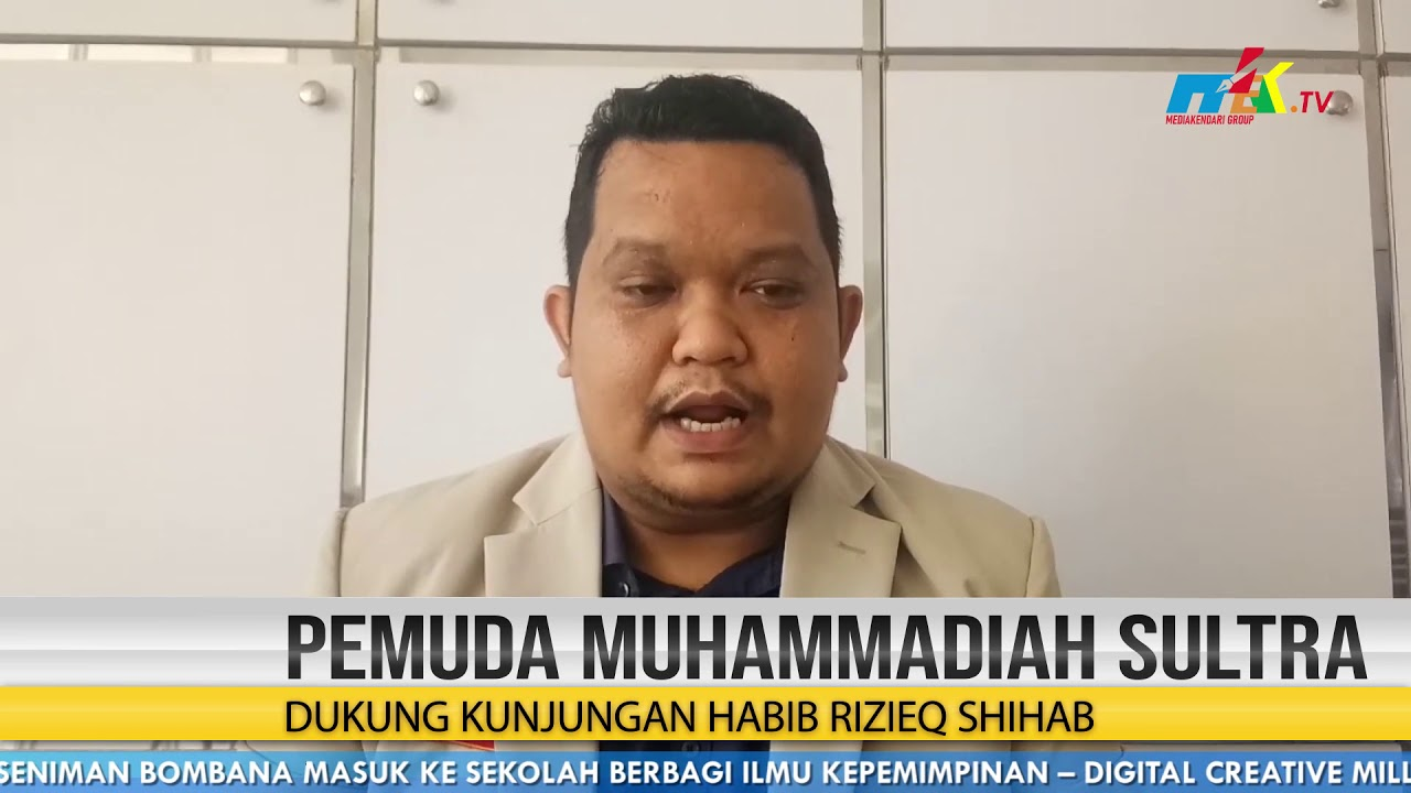 Pemuda Muhammadiah Sultra Dukung Kunjungan Habib Rizieq Shihab