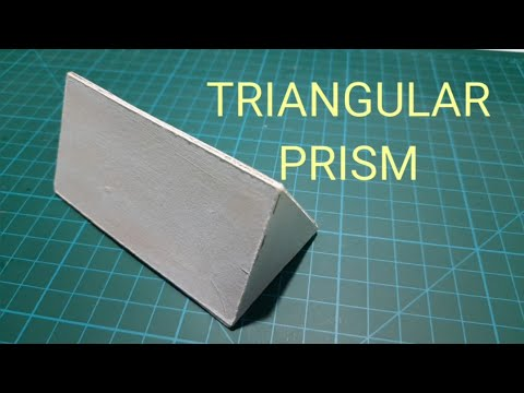 Easyway to make triangular prism with mountboard or cardboard / how to make a triangular prism. #3