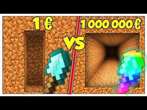 PALA POVERA DA 1 EURO CONTRO PALA RICCA DA 1 MILIONE! - Minecraft ITA
