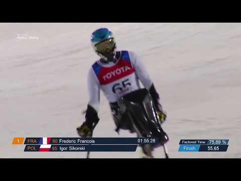 Igor Sikorski 1st men's Slalom sitting - 2018 World Cup Zagreb