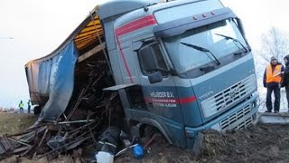 Best truck crashes, truck accident compilation 2013 Part 1