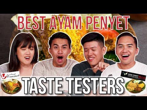 BEST AYAM PENYET IN SINGAPORE | Taste Testers | EP 97