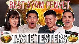 Best Ayam Penyet in Singapore   Taste Testers   EP 96