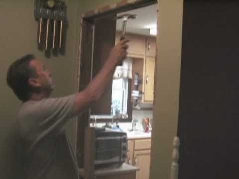 Drywall Installation: How To Cover Door Opening With Drywall   YouTube