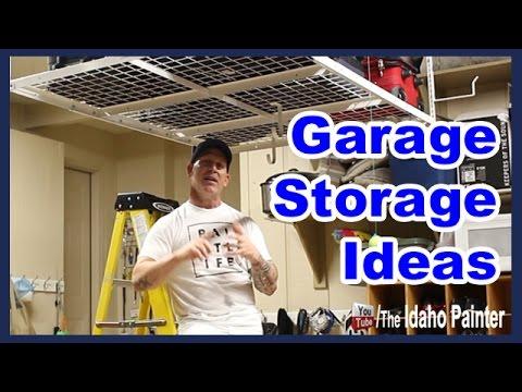 installing-a-garage-ceiling-rack.-garage-storage-tips.