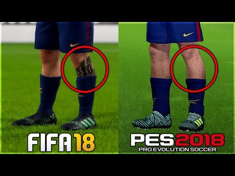 DIFFERENT THINGS IN FIFA 18 Vs PES 2018