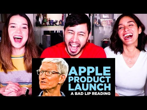 'APPLE PRODUCT LAUNCH' - A BAD LIP READING | Reaction!