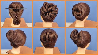 EP 34 | 6 Very Beautiful, Lovely & Simple Hairstyles | Latest Wedding Hairstyle Tutorial