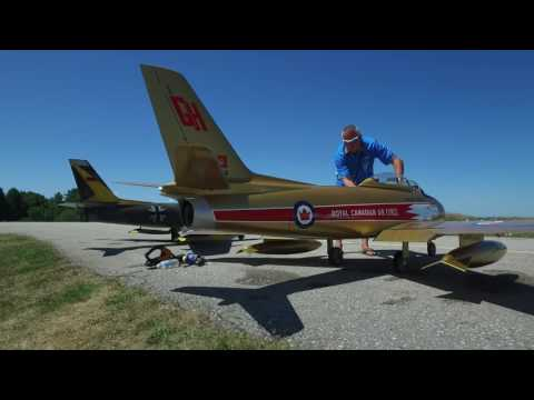 Giant RC CF86 Model Jet, Wingham, Ontario, CANADA