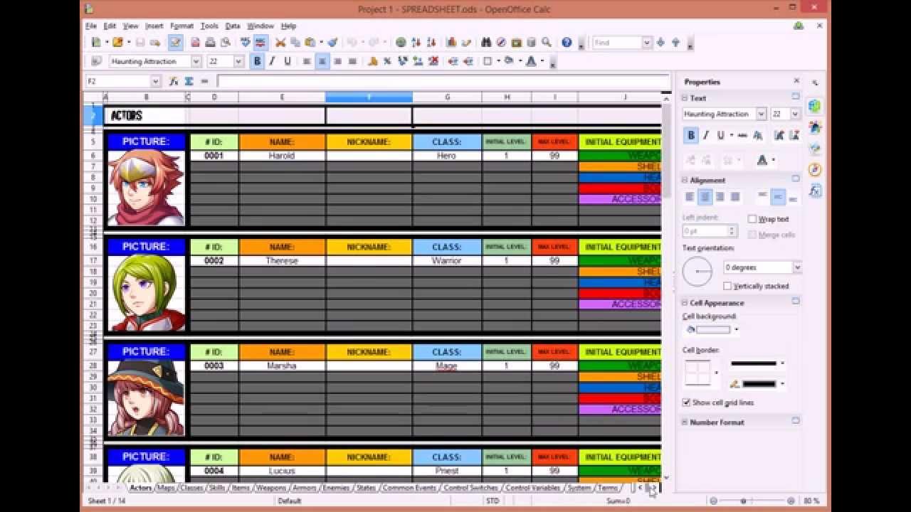spreadsheet maker