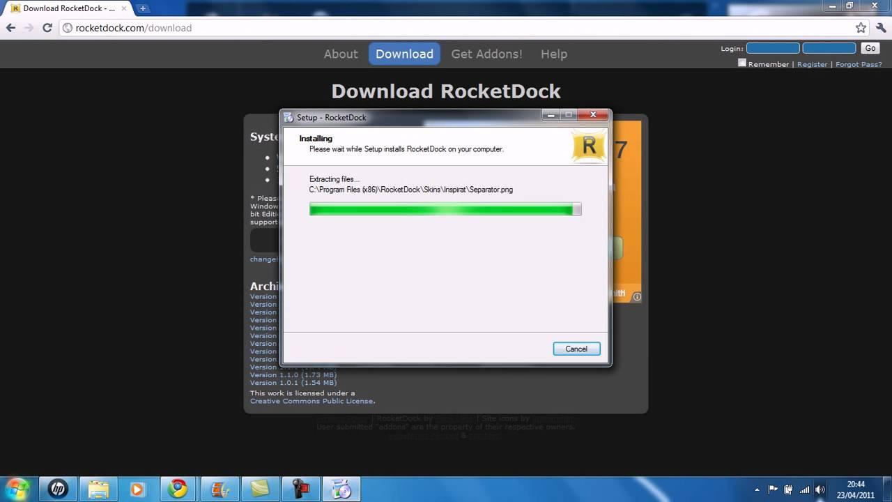 rocketdock 2011