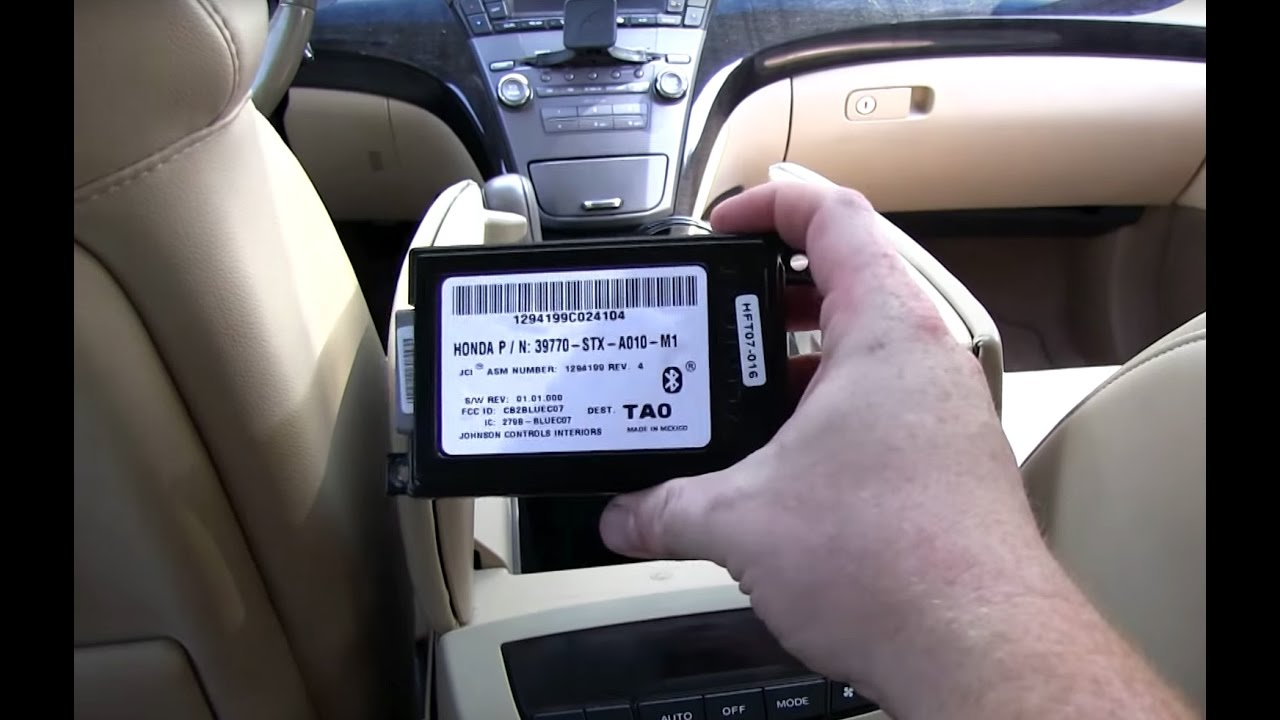 medium resolution of how to fix battery drain on a 2007 acura mdx replace failed bluetooth hand free link module youtube