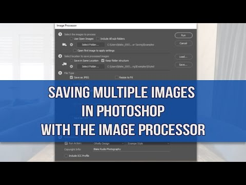 Saving Multiple Images In Photoshop With Scripts