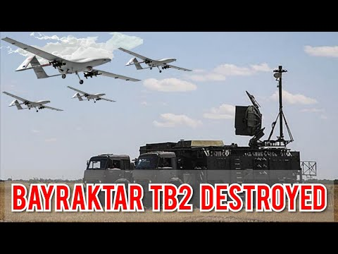 Turkish Drone Bayraktar TB2 Destroyed by Russian Military with Krasukha