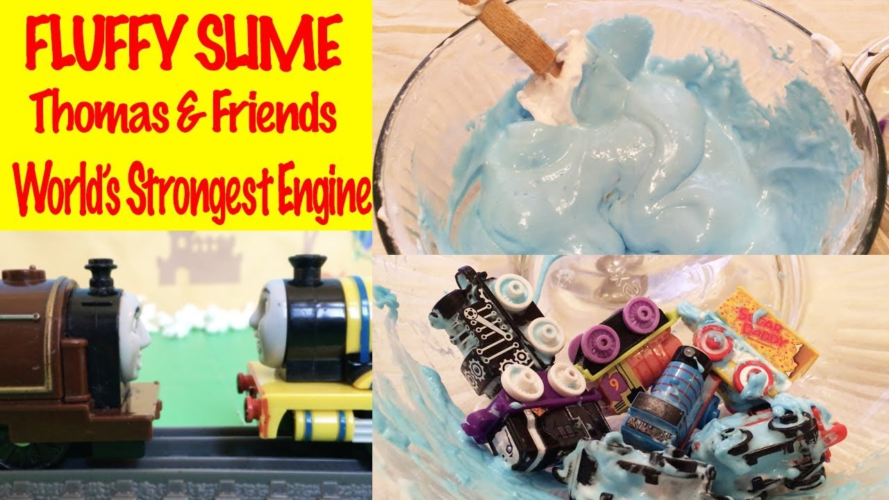 FLUFFY SLIME - World's Strongest Engine with Thomas and Friends Toy Trains