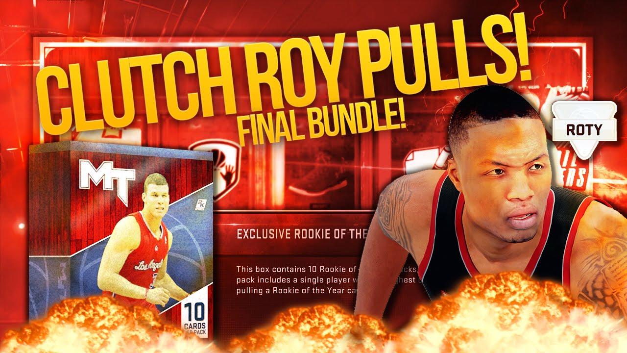 NBA 2K16 My Team ROY WINNER PACK BOX! CLUTCH PULLS IN FINAL BOX! - YouTube