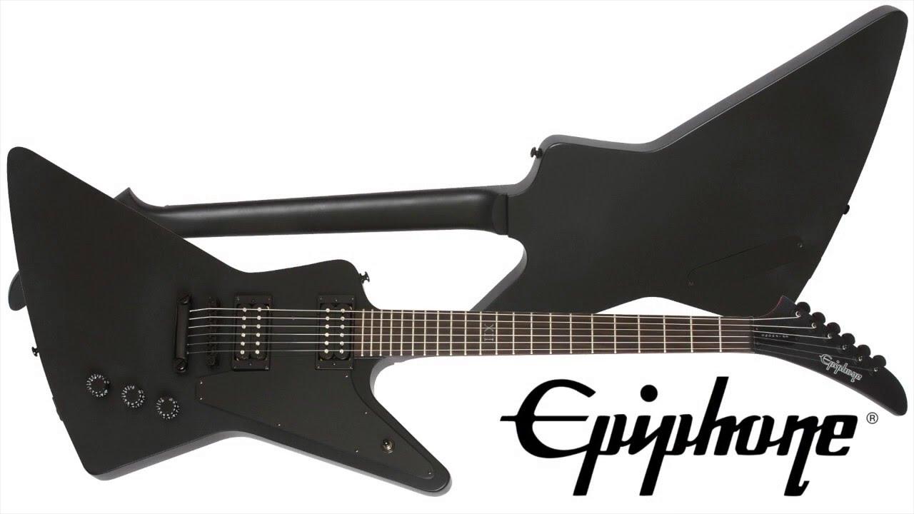 Epiphone GOTHIC 1958 EXPLORER BLACK SATIN BLK