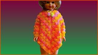 Пончо крючком. Вязание пончо. Красивый узор крючком. Вязание крючком. Часть 1. (Poncho Crochet P. 1)