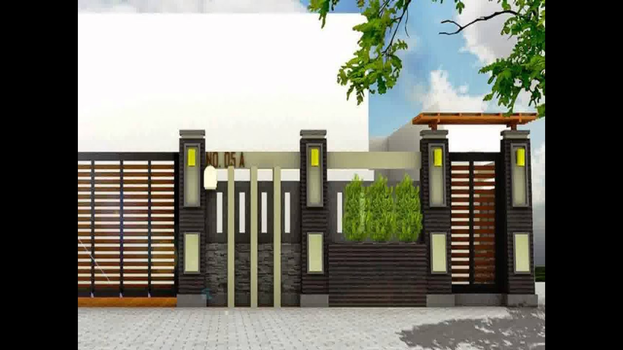 25 Contoh Gambar Pagar Tembok Rumah Minimalis Type 36 ...