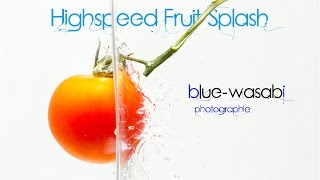 Fruit Fotografie - Früchte - High Speed Photography  - Water - Splash -