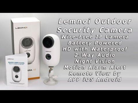 Lemnoi Wireless Battery Powered Security Camera