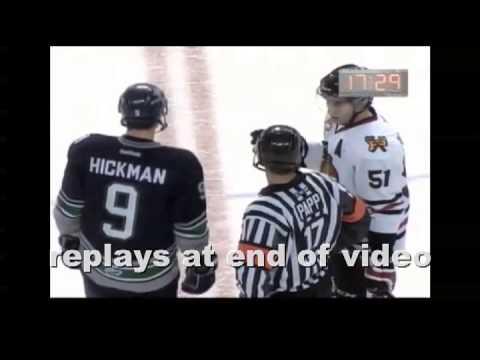 Evan Wardley 5 min major charge on Adam de Champlain 11/01/13