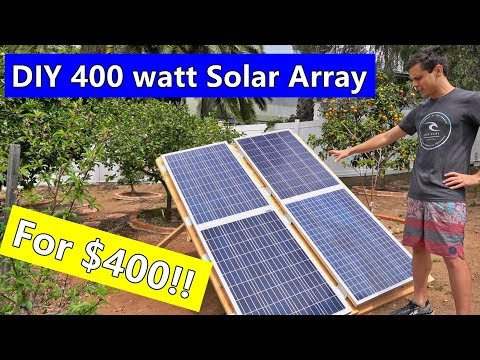 DIY 400 Watt Ground Mounted Solar Array