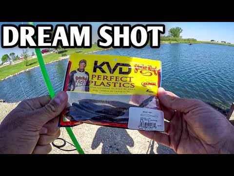 Bank Fishing With A KVD Dream Shot (*Learning The Drop Shot*)