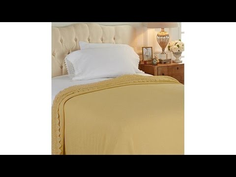 Highgate Manor Kensington Lace Trim Cotton Blanket