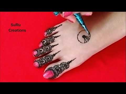Best Henna Design For Feet | Traditional Leg Mehndi Design