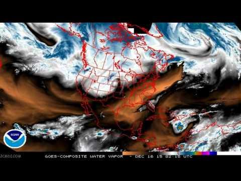 GOES Weather IR Satellite 6-month timelapse Winter 2015-2016 V19571