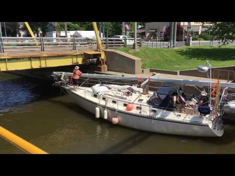 Passing thru Oswego Canal Lock 1 - Phoenix, NY