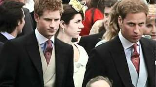 Prince William and Kate Middleton attend a wedding