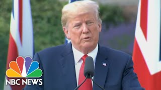 President Donald Trump Warns Immigration Is 'Changing The Culture' Of Europe | NBC News