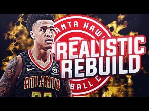 NEW WARRIORS? REALISTIC HAWKS REBUILD! NBA 2K19