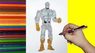 How to draw robot Atom, Real Steel, Как нарисовать робота Атома, Живая Сталь
