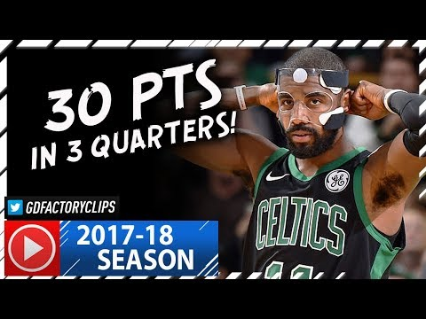 Masked Kyrie Irving Full Highlights vs Magic (2017.11.24) - 30 Pts in 3 Quarters!