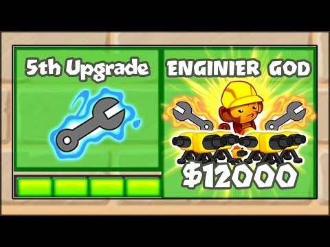 5TH TIER UPGRADES MOD - THE ENGINEER GOD!! | Bloons TD Battles Hack/Mod (BTD Battles)