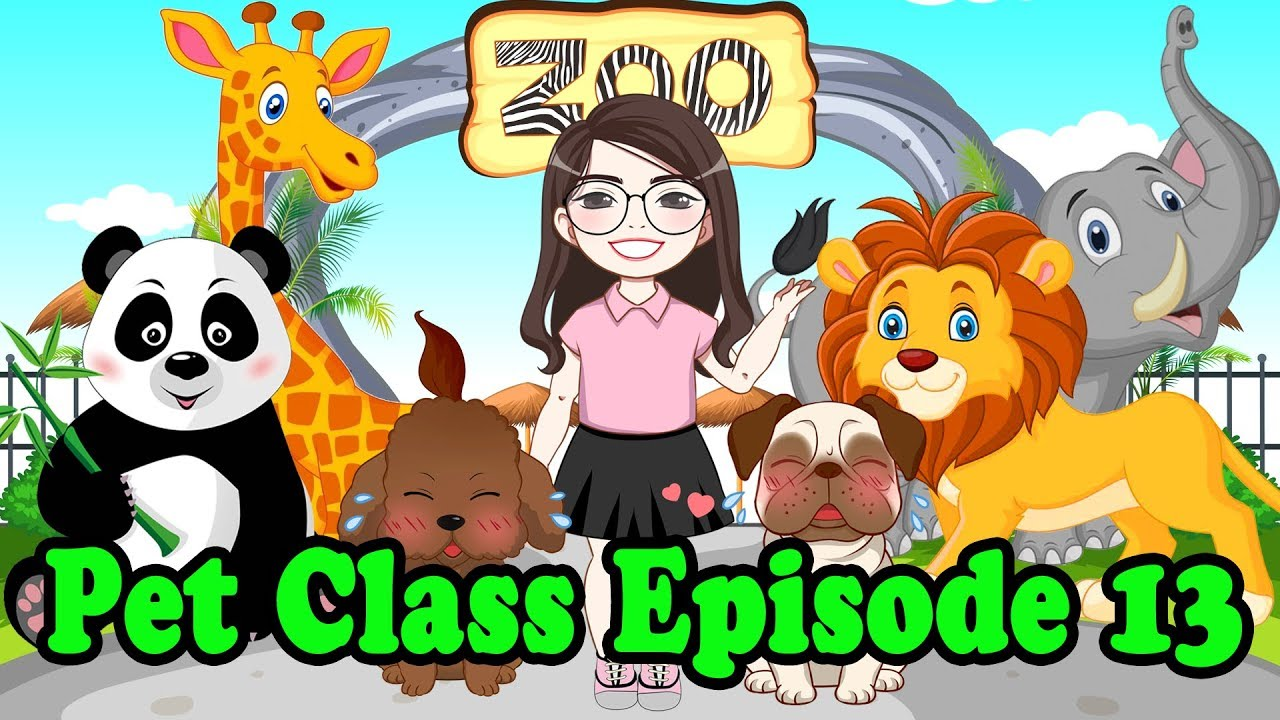 learn wild animals names with bin and bon in zoo pet s class 013