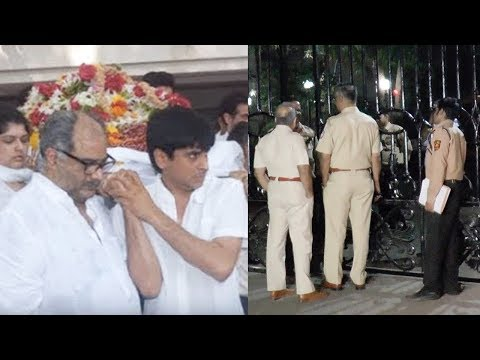 Tight Security Outside Sridevi's Mumbai House After Her Sad Demise Because Of Cardiac Arrest