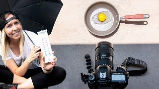 Frying an egg in the SUN & protecting cameras in extreme HEAT ☀️🥵