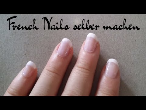 french nails selber machen ohne gel youtube. Black Bedroom Furniture Sets. Home Design Ideas