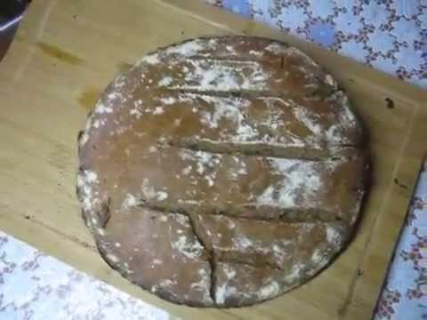 Ржаной бездрожжевой хлеб печем сами. Ржаной хлеб на бездрожжевой закваске испечь  дома.