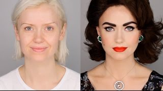 Elizabeth Taylor Inspired Makeup Tutorial #FacePaintBook