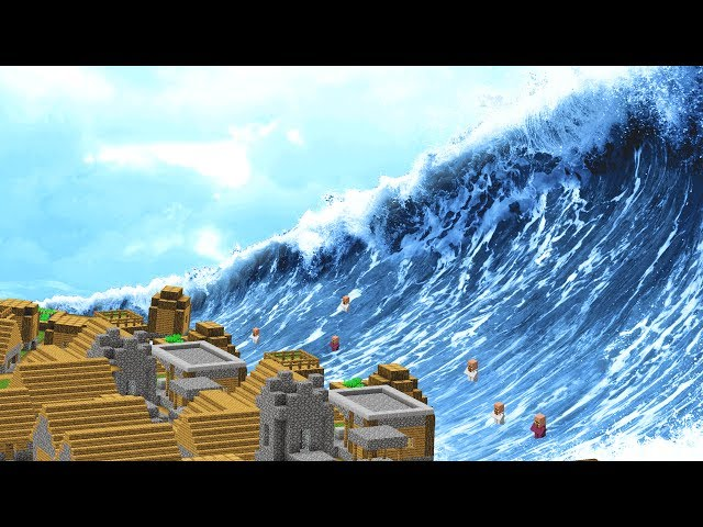 MINECRAFT TSUNAMI DESTROYS CITY!