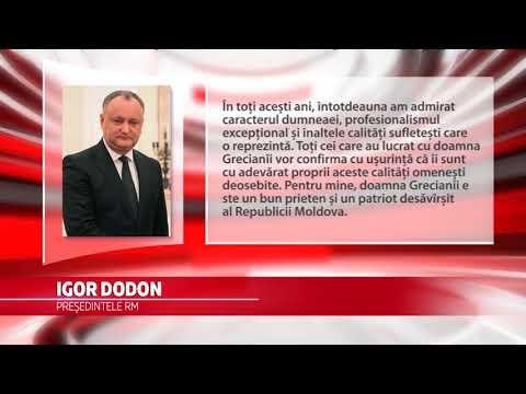 Zinaida Greceanîi a fost felicitată de Igor Dodon