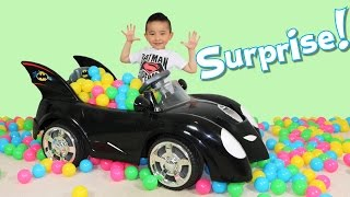 Batmobile Surprise Toys Fun With Superhero Eggs And Blind Bags Opening Ckn Toys