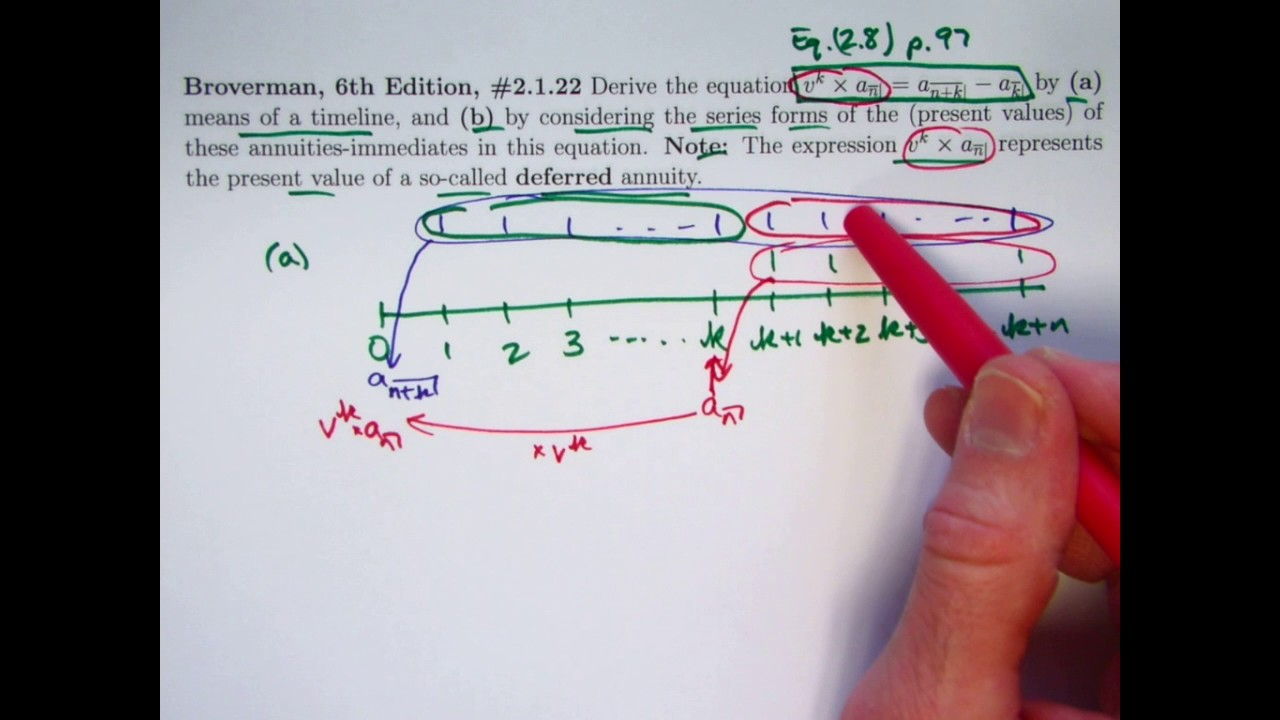 actuarial exam 2  fm prep  present value of a deferred