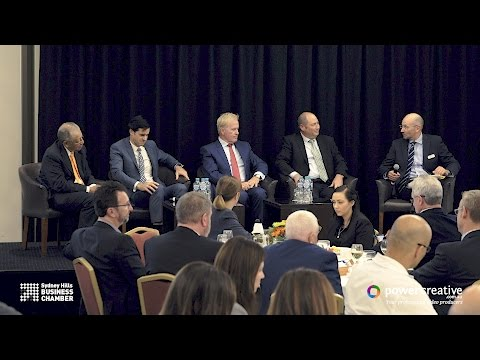 2017 Sydney Hills Business Chamber Chairmans Lunch Panel Discussion