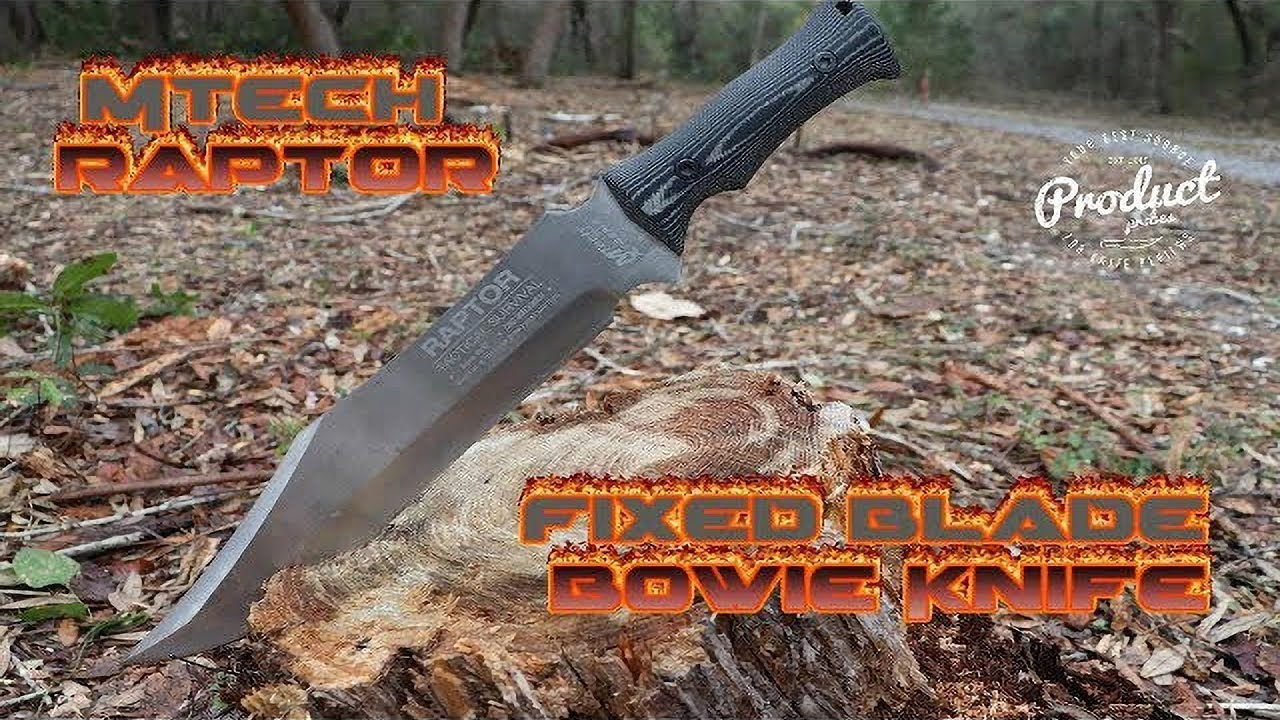 Download MTECH Raptor - Large Fixed Blade Survival Bowie Knife (Mx-8070)